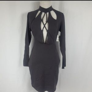 NWT Charlotte Russe Lace Up Bodycon Dress